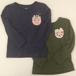 Pair of Carters Long Sleeve with Decorative Pocket